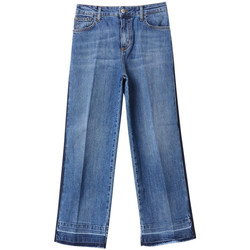 Textiel Dames Straight jeans Liu Jo Blue Denim PANTALONE ENTERPRICING H.W. 78015-den-blue-portrait-w