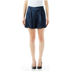 Textiel Dames Korte broeken / Bermuda's Liu Jo Blue Denim SHORT ROUCHES 77000-normal-wash
