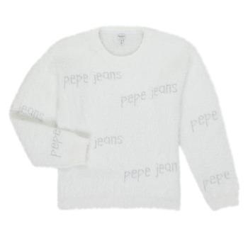 Textiel Meisjes Truien Pepe jeans AUDREY Wit