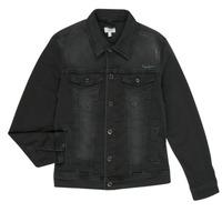 Textiel Jongens Spijker jassen Pepe jeans LEGENDARY Zwart
