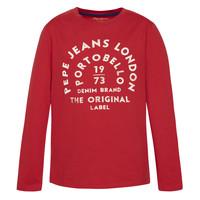 Textiel Jongens T-shirts met lange mouwen Pepe jeans ANTONI Rood