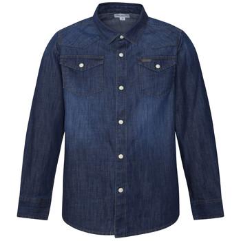 Textiel Jongens Overhemden lange mouwen Pepe jeans JHON Blauw