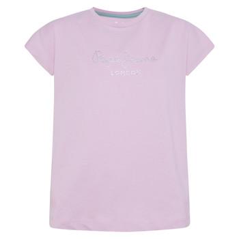 Textiel Meisjes T-shirts korte mouwen Pepe jeans NURIA Blauw