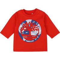Textiel Jongens T-shirts met lange mouwen Timberland T95889 Rood