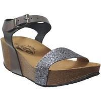 Schoenen Dames Sandalen / Open schoenen Plakton So kiss Grijs metaal leer