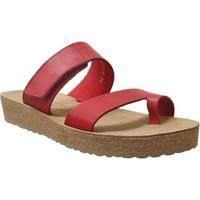 Schoenen Dames Leren slippers Mobils By Mephisto Cecily Rood leer