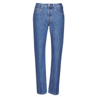 Textiel Dames Boyfriend jeans Levi's 501 CROP Breeze / Steen