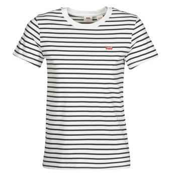 Textiel Dames T-shirts korte mouwen Levi's PERFECT TEE Cloud
