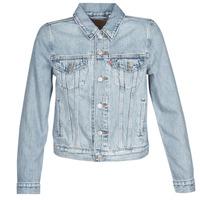Textiel Dames Spijker jassen Levi's ORIGINAL TRUCKER Blauw