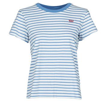 Textiel Dames T-shirts korte mouwen Levi's PERFECT TEE Blauw