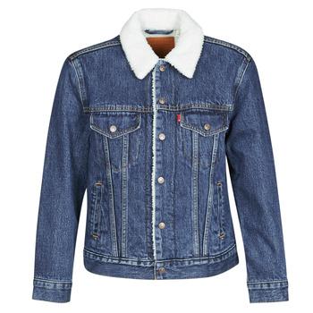 Textiel Dames Spijker jassen Levi's EX-BF SHERPA TRUCKER Blauw