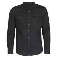 Textiel Heren Overhemden lange mouwen Levi's BARSTOW WESTERN STANDARD Zwart