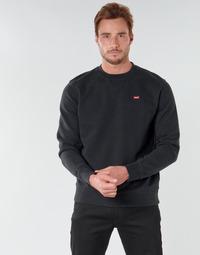 Textiel Heren Sweaters / Sweatshirts Levi's NEW ORIGINAL CREW Zwart