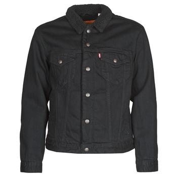 Textiel Heren Spijker jassen Levi's TYPE 3 SHERPA TRUCKER Zwart
