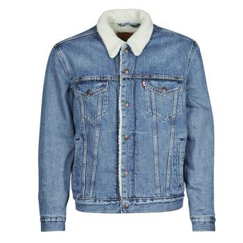 Textiel Heren Spijker jassen Levi's TYPE 3 SHERPA TRUCKER Blauw