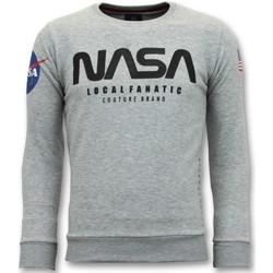 Textiel Heren Sweaters / Sweatshirts Local Fanatic Sweater - Nasa American Flag - Grijs