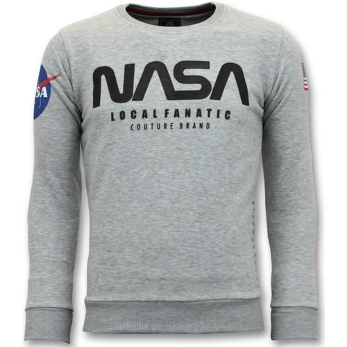 Textiel Heren Sweaters / Sweatshirts Local Fanatic Nasa American Flag Grijs
