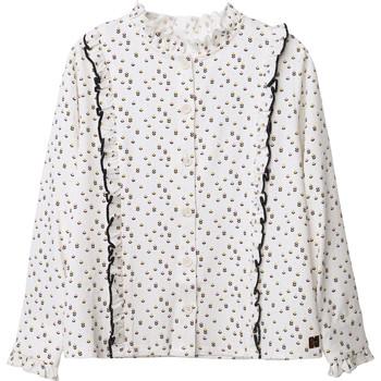 Textiel Meisjes Tops / Blousjes Carrément Beau Y15356 Wit
