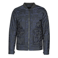 Textiel Heren Wind jackets Scotch & Soda JACQUARD BOMBER Marine