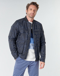 Textiel Heren Wind jackets Scotch & Soda JACQUARD BOMBER Marine