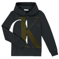 Textiel Jongens Sweaters / Sweatshirts Calvin Klein Jeans IB0IB00628-BEH Zwart