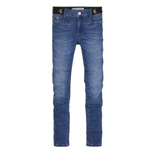 Textiel Meisjes Skinny Jeans Calvin Klein Jeans IG0IG00639-1A4 Blauw