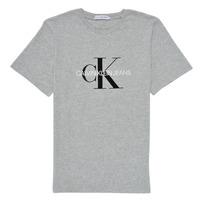 Textiel Kinderen T-shirts korte mouwen Calvin Klein Jeans MONOGRAM Grijs