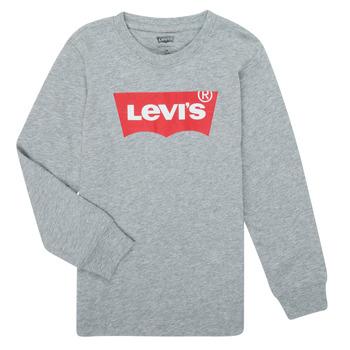 Textiel Jongens T-shirts met lange mouwen Levi's BATWING TEE LS Grijs
