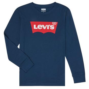 Textiel Jongens T-shirts met lange mouwen Levi's BATWING TEE LS Blauw