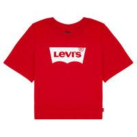 Textiel Meisjes T-shirts korte mouwen Levi's LIGHT BRIGHT CROPPED TEE Rood