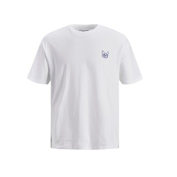 Textiel Jongens T-shirts korte mouwen Jack & Jones JJAARHUS TEE Wit