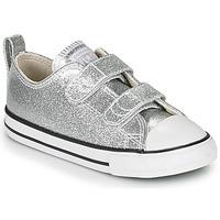 Schoenen Meisjes Lage sneakers Converse Chuck Taylor All Star 2V - Coated Glitter Zilver