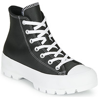 Schoenen Dames Hoge sneakers Converse CHUCK TAYLOR ALL STAR LUGGED - FOUNDATIONAL LEATHER Zwart