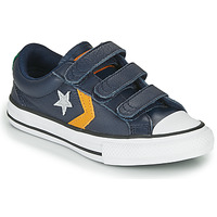 Schoenen Kinderen Lage sneakers Converse STAR PLAYER 3V - LEATHER TWIST Blauw / Mosterd