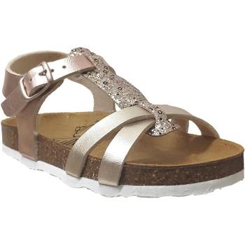 Schoenen Meisjes Sandalen / Open schoenen Plakton Cross Metallic platina