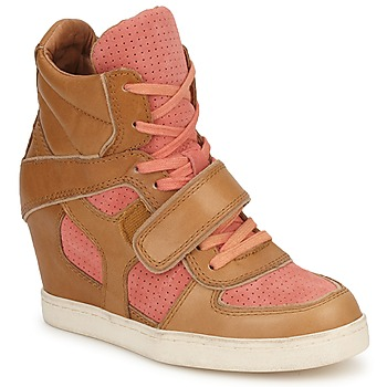Schoenen Dames Hoge sneakers Ash COCA Bruin / Koraal
