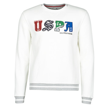Textiel Heren Sweaters / Sweatshirts U.S Polo Assn. ANSON FLEECE Wit