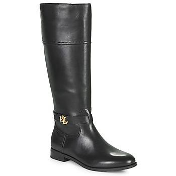 Schoenen Dames Hoge laarzen Lauren Ralph Lauren BAYLEE Zwart