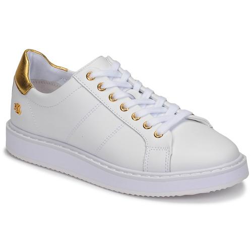 Schoenen Dames Lage sneakers Lauren Ralph Lauren ANGELINE II Wit / Goud