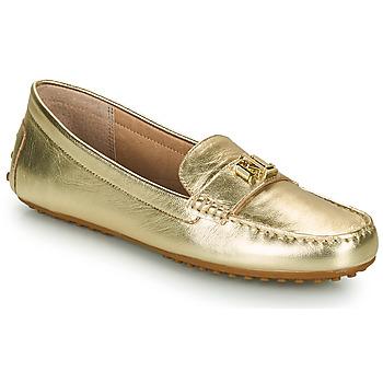 Schoenen Dames Mocassins Lauren Ralph Lauren BARNSBURY FLATS CASUAL Goud