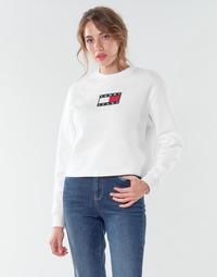 Textiel Dames Sweaters / Sweatshirts Tommy Jeans TJW TOMMY FLAG CREW Wit