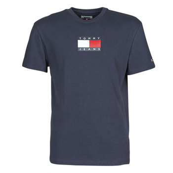 Textiel Heren T-shirts korte mouwen Tommy Jeans TJM SMALL FLAG TEE Marine