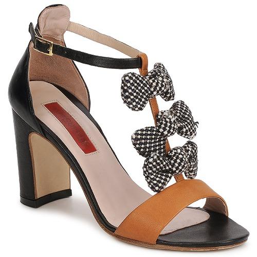 Schoenen Dames Sandalen / Open schoenen MySuelly NOE Zwart / Bruin