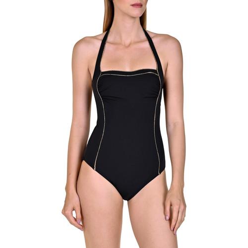 Textiel Dames Badpak Lisca 1-delig zwempak zonder beugel vormkledij Ancona Parelmoer Zwart