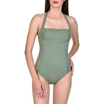Textiel Dames Badpak Lisca Ancona  Beugelzwempak 1-delig Halterzwempak zonder Donkergroen