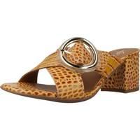 Schoenen Dames Leren slippers Alpe 4694 56 Geel