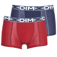 Ondergoed Heren Boxershorts DIM 3D FLEX AIR X 2 Marine / Bordeau