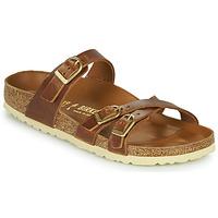 Schoenen Dames Leren slippers Birkenstock FRANCA Bruin