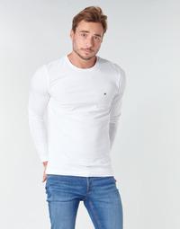 Textiel Heren T-shirts met lange mouwen Tommy Hilfiger STRETCH SLIM FIT LONG SLEEVE TEE Wit