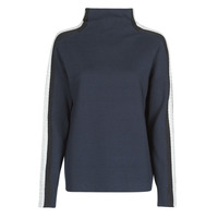 Textiel Dames Truien Tommy Hilfiger SIDE STRIPE MOCK-NK SWEATER LS Marine / Zilver / Bordeau